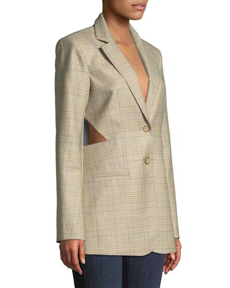 Cooper Menswear Check Cutout Blazer
