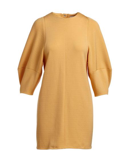 fe3f23946ddb Tibi Jewel-Neck Balloon-Sleeve Crepe Mini Dress