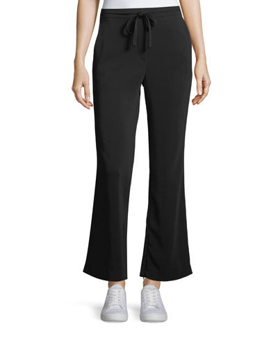 Samuel Drawstring Flared-Leg Pants