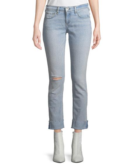 9a2fbab273bf70 rag & bone/JEAN Dre Mid-Rise Straight-Leg Jeans