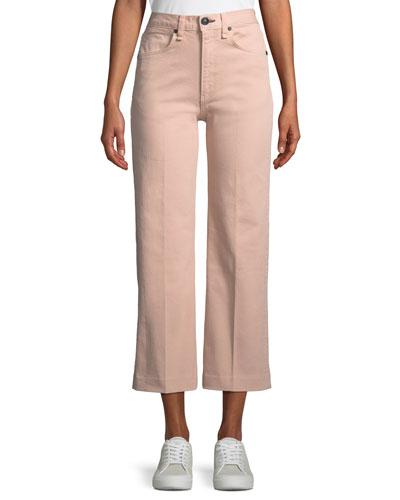 Justine High-Rise Wide-Leg Crop Jeans