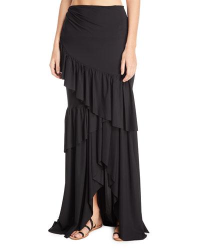 Leonarda Tiered Ruffle Maxi Skirt