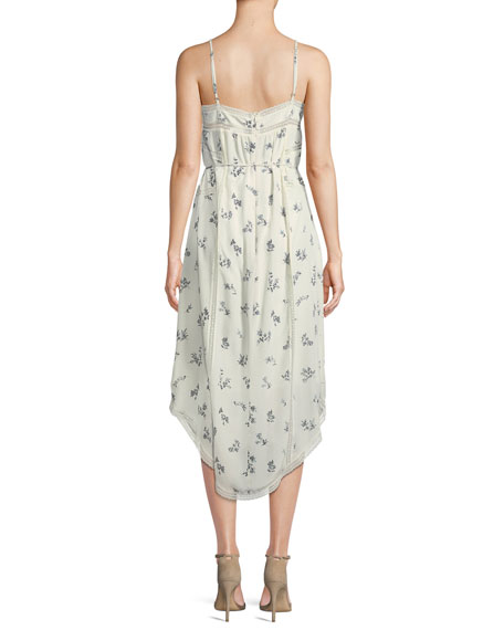 1e1a2fcf0046 Zimmermann Pintuck Floral Bouquet-Print Silk Slip Dress
