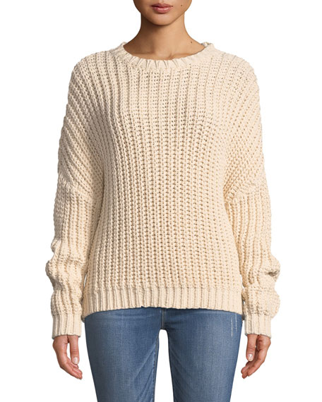 Sunny Braid Cable-Knit Sweater