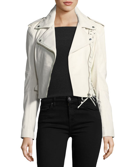 Mcq By Alexander Mcqueen  JACKET 59 LACE-UP LEATHER JACKET