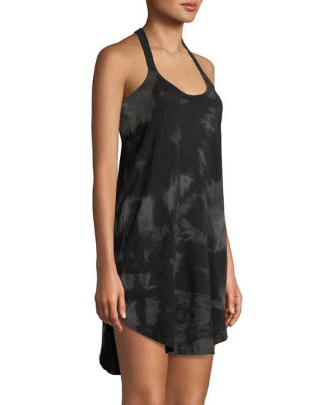 Tie-Dye Scoop-Neck Racerback Cotton Tank Dress
