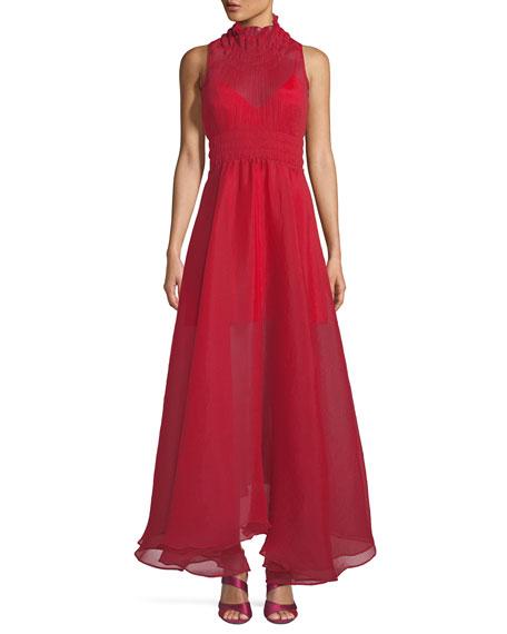 Beaufille Venus Sleeveless Textured Chiffon Dress