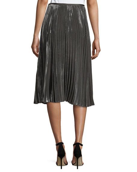 Ranella Pleated Velvet Skirt