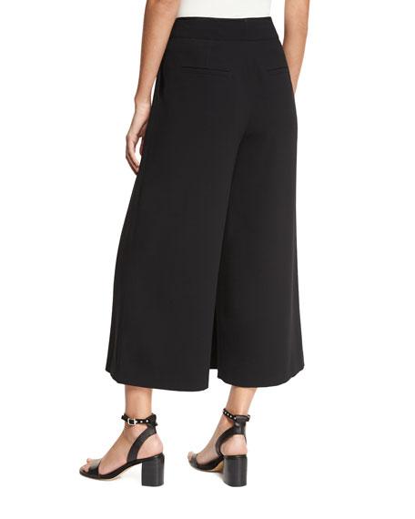 Lomand High-Rise Wide-Leg Crepe Pants