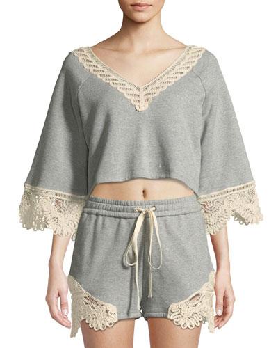 Crochet Casuals V-Neck Top
