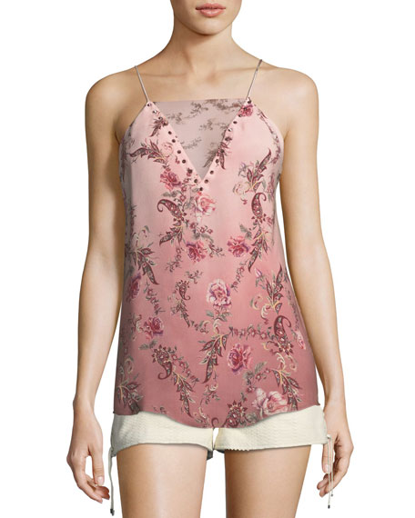 No Regrets Floral-Print Silk Camisole