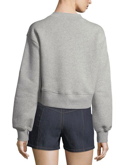 Tous Les Jours Julien Cropped Pullover Sweatshirt