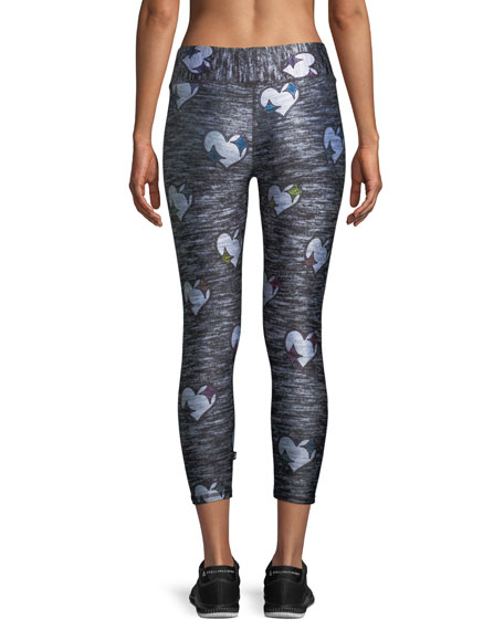 Heathered Hearts Tall Band Capri Leggings