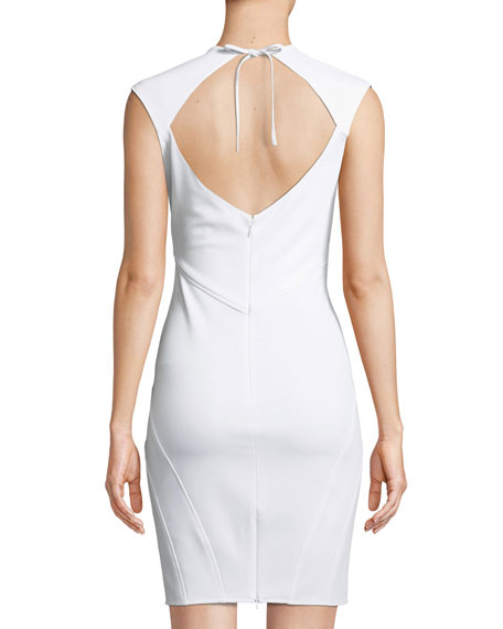 Regina V-Neck Open-Back Cocktail Dress