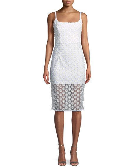Jessie Stretch Daisy Lace Sleeveless Cocktail Dress