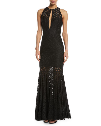 Joan Sleeveless Lace Gown