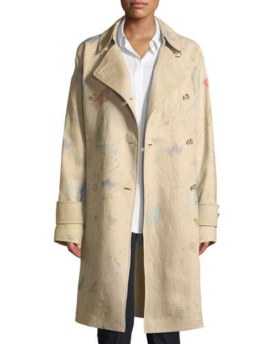 Laurita Modern Muse Linen Trench Coat