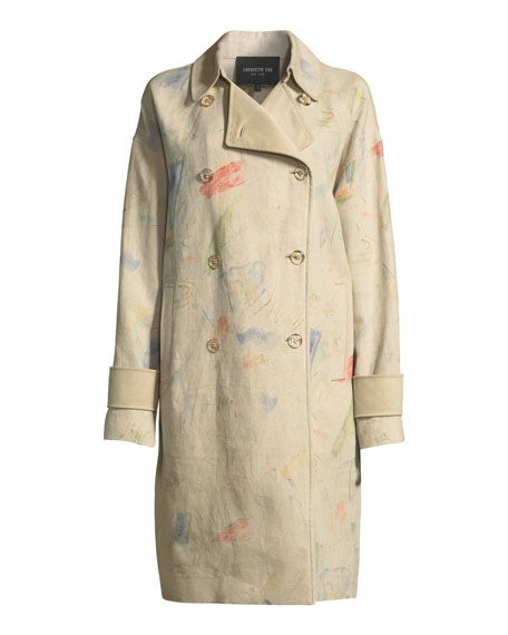 Laurita Modern Muse Linen Trench Coat