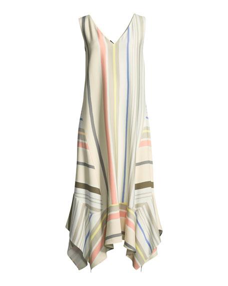 Isla Mesa Stripe V-Neck Dress