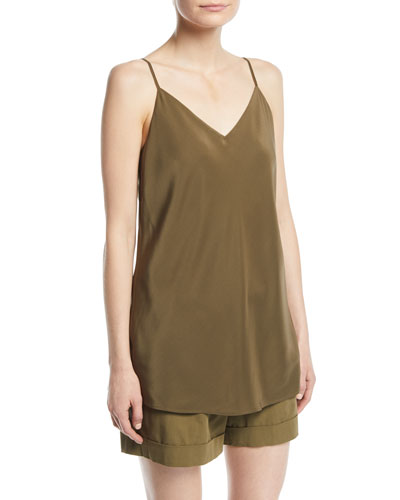 Eva V-Neck Silk Tank Top