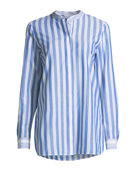 Brayden Captiva Striped Cotton Blouse
