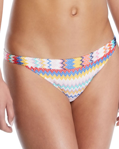Low-Rise Zigzag Hipster Swim Bottoms