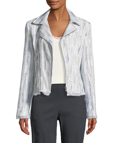 Mae Fringed-Trim Tweed Jacket