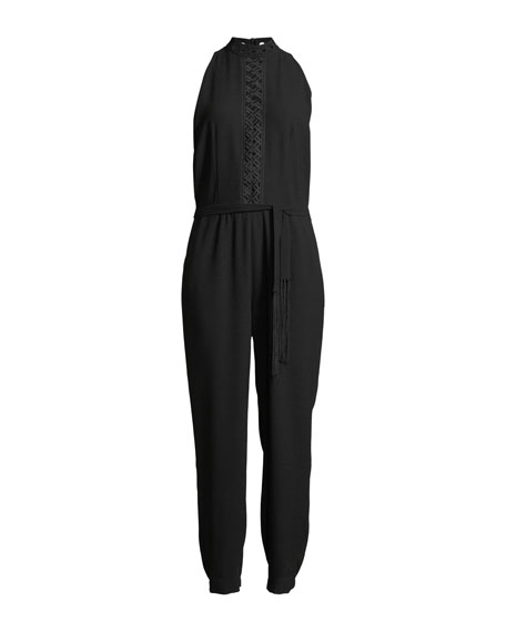 Shaunda Ladder Stitch-Inset Jumpsuit