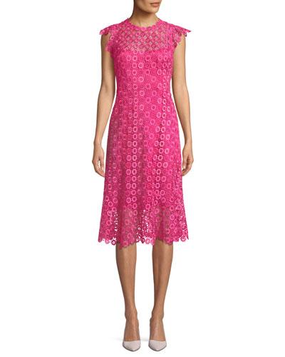 Florance Geometric-Lace Dress