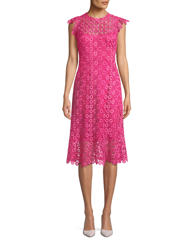 Florance Geometric Lace Dress