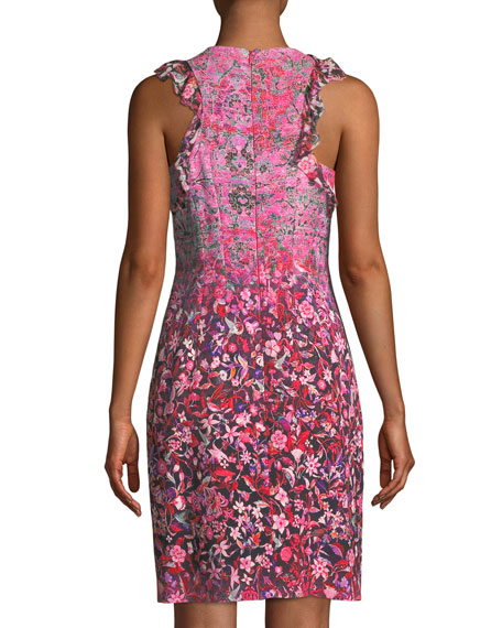 Carelle Ombré-Floral Shift Dress