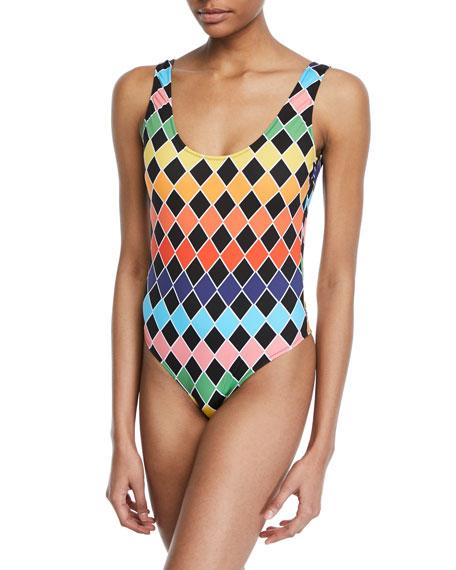 Caroline Constas Artsi Scoop-Neck One-Piece Swimsuit
