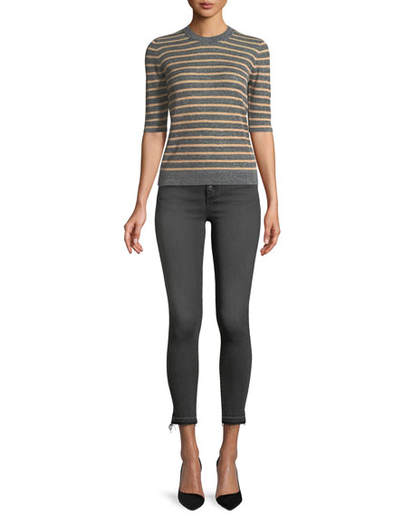 "Debbie 10"" Rise Skinny-Leg Jeans w/ Button Fly"