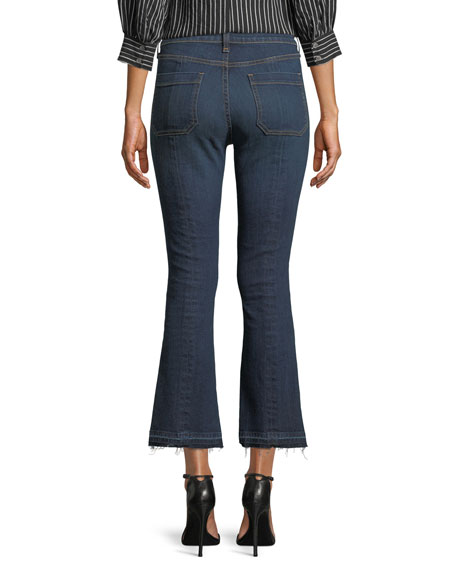 "Carolyn 10"" Rise Baby-Boot Jeans with Patch Pocket"