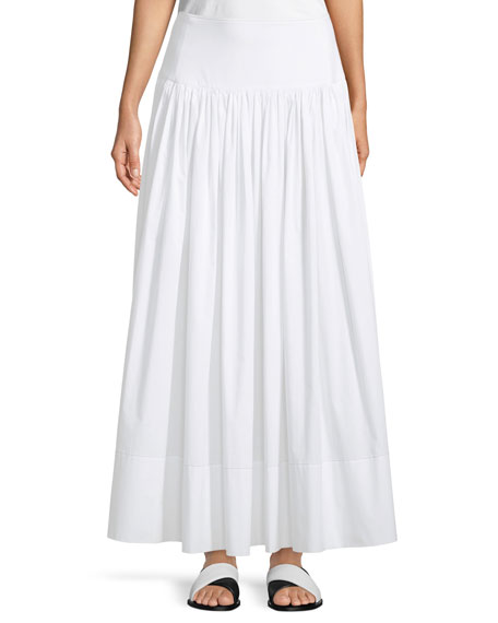 Image 1 of 1: Shirley Ruched Cotton Maxi Skirt