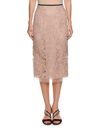 Lace Pencil Skirt