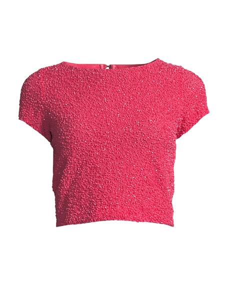 Kelli Embellished Short-Sleeve Top