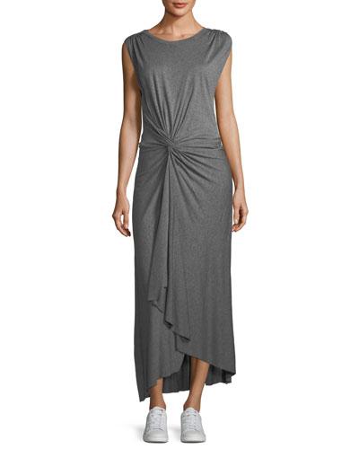 Emile Sleeveless Knot-Front Maxi Dress