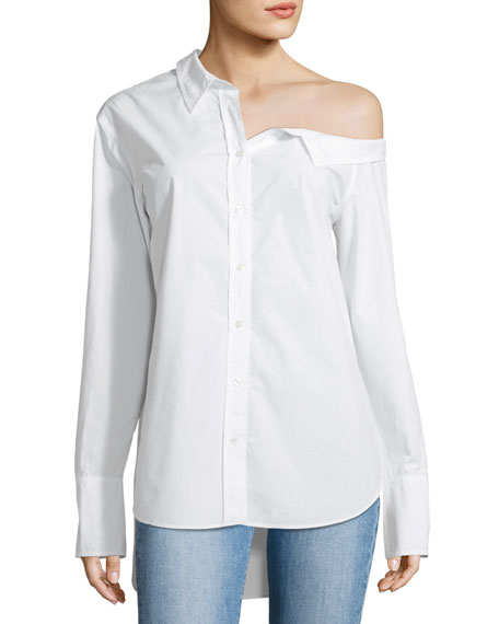 Wesley Off-One-Shoulder Cotton Top