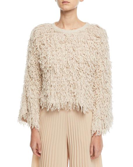 Toby Crewneck Shaggy Sweater