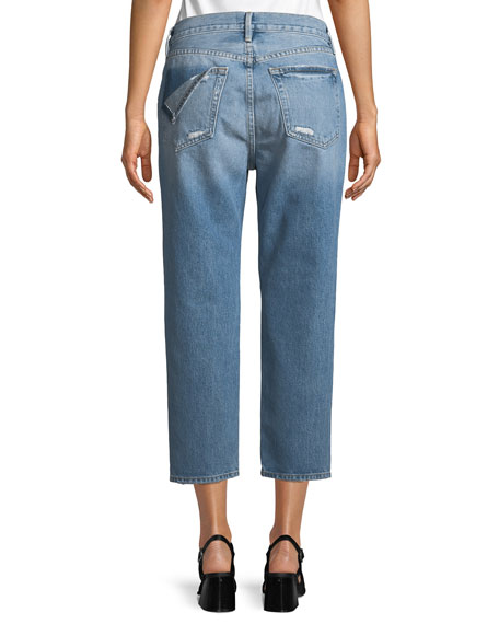 Le Stevie Cropped Straight-Leg Jeans