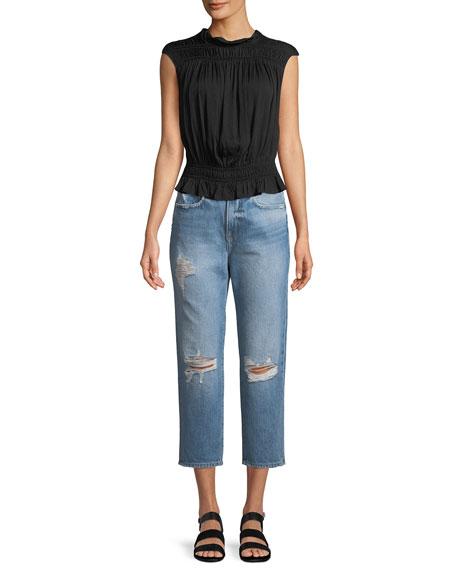 Le Stevie Cropped Straight-Leg Jeans