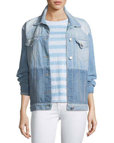 Le Panel Block Denim Jacket