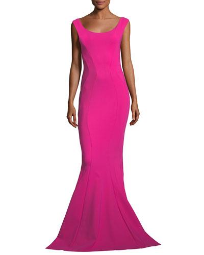Maeli Cap-Sleeve Mermaid Gown