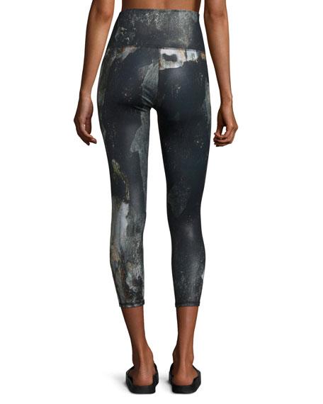 Airbrush Printed Sport Capri Leggings