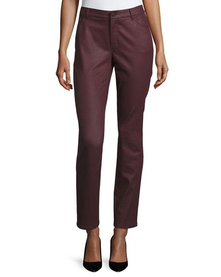 Curvy Slim-Leg Jeans, Rhubarb