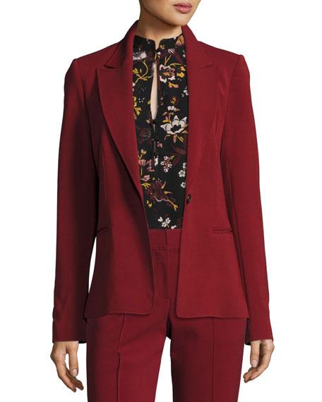 Duke One-Button Tailored Blazer Jacket