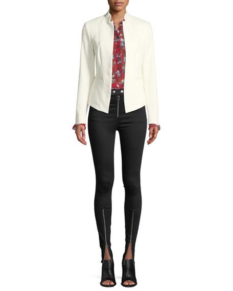 Isabel High-Rise Moto-Inspired Skinny-Leg Jeans