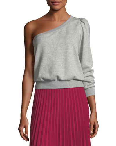 Crane One-Shoulder Sweatshirt