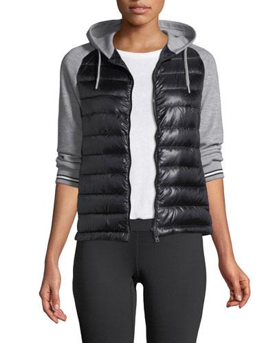 Combo Quilted Jacket w/ Fleece Hood